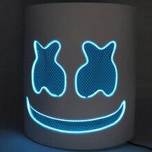 DIY EVA DJ Marshmallow EL Wire LED Helmet Mask Cosplay Prop Halloween Full Face Party Bar Masks