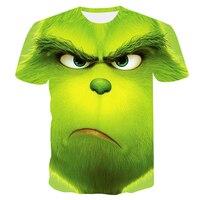 Новинка 2019 года; летняя модная футболка для мужчин и женщин с рисунком фильма «The Grinch»; Повседневная футболка для мальчиков с 3D принтом; s