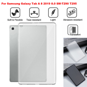 Pokrowiec na tableta do Samsung Galaxy Tab A 8 cali 2019 8.0 SM-T290 T295 T297 TPU Solf odporna na wstrząsy tylna obudowa czarny Hot S30