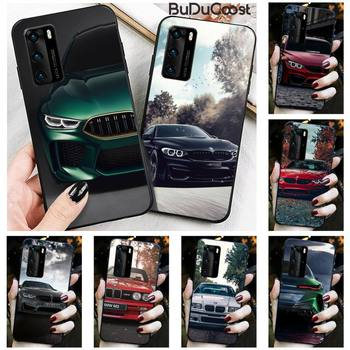 Diseny Blue Red Car For Bmw Phone Case for Huawei P30 P20 Mate 20 Pro Lite Smart Y9 prime 2019 image