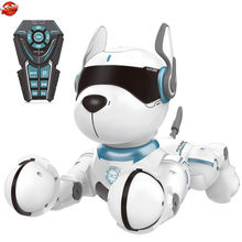 Intelligent Early Education Parent-Child Interaction Robot Dog Kids Gift Dancing Music Program Imitate Animal Sounds RC Pet Dog(China)