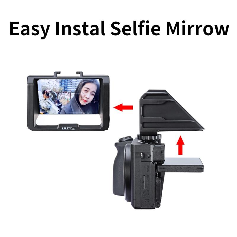 Top SaleUurig Flip-Screen-Bracket Periscope A6500 A7R3 A7m3 Mirrorless A72 Selfie A7S Vlog
