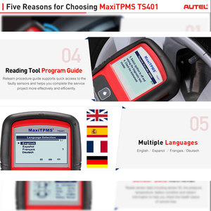 Image 4 - Autel MaxiTPMS TS401 Tire Pressure Monitoring System OBD2 TPMS Diagnostic Scanner Tool Activate 315 433MHZ Sensor Programming