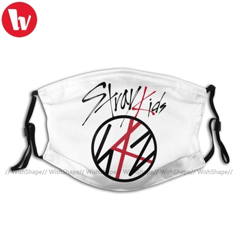 Stray Kids Kpop Mouth Face Mask Stray Kids Facial Mask with 2 Filters Polyester Adult Beautiful Mask