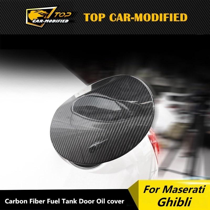 Accessoires de voiture en fibre de carbone, livraison gratuite, 100%, couvercle dhuile pour Maserati Ghibli, 2014 up
