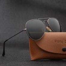 Gafas de sol con lentes de cristal G15 para hombre y mujer, lentes de sol con diseño de lujo de marca, adecuadas para conducir, estilo piloto, 3025