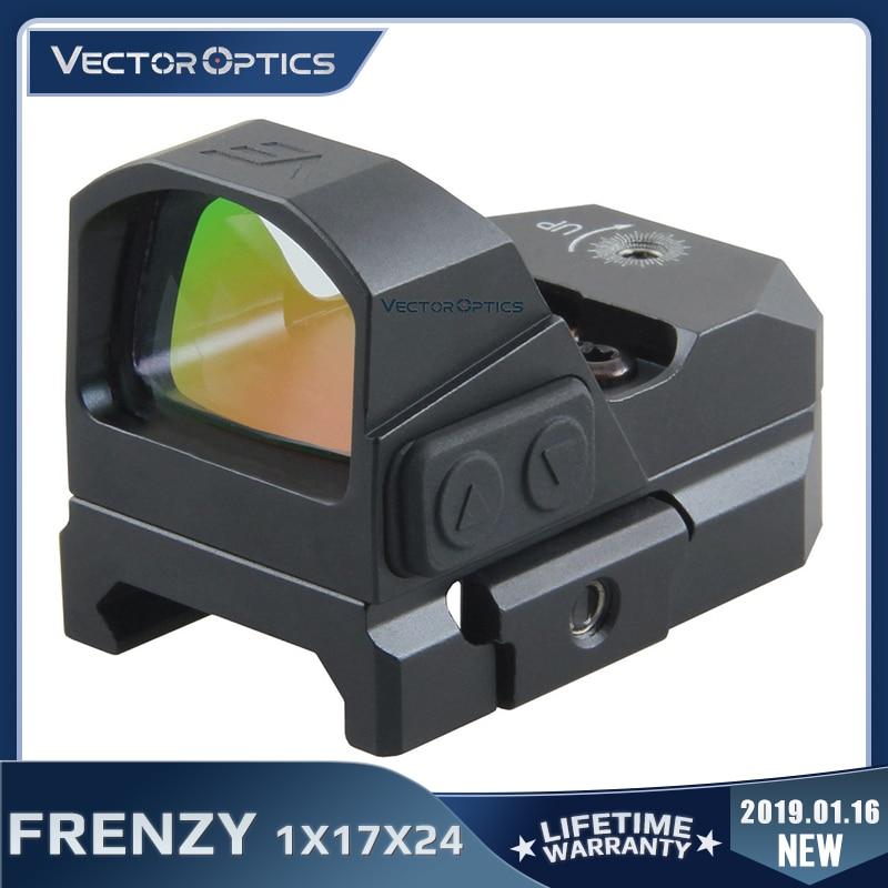 Векторная оптика Frenzy 1x17x24 Красный точечный прицел пистолета IPX6 Водонепроницаемый подходит для 21 мм Пикатинни GLOCK 17 19 9 мм AR15 M4 AK