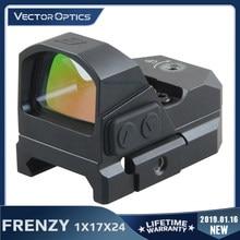 Vector Optics-mira telescópica para pistola, 1x17x24, punto rojo, IPX6, resistente al agua, apta para Picatinny GLOCK de 21mm, 17, 19, 9mm, AR15, M4 AK