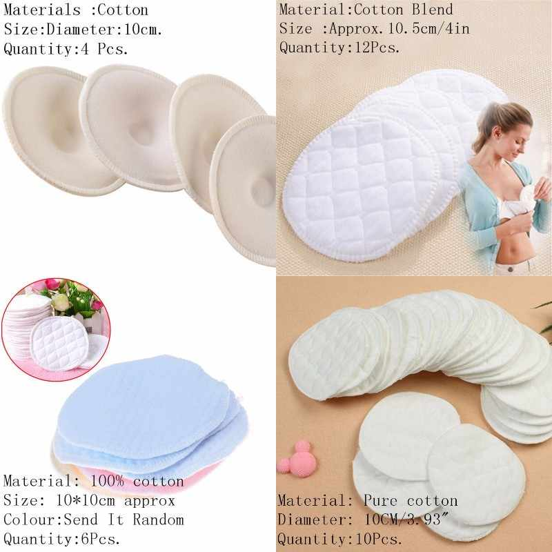 4/6/10/12PCS Washable Breathable Absorbency Breast Pads Anti-overflow Maternity Nursing Pad Baby Feeding Breastfeeding Mom