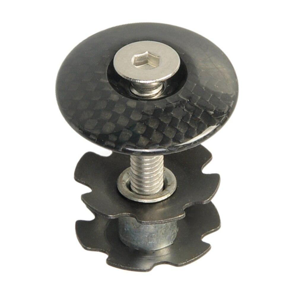 Bouchon supérieur de fourche avant de vélo en Fiber de carbone, avec vis, 28.6mm, pièce de bicyclette de route