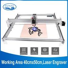 Diện Tích Làm Việc 40Cm X 50Cm, 2500Mw/5500Mw/15W Laser Máy CNC, máy Tính Để Bàn DIY Tím Laser Khắc DIY Mini Laser