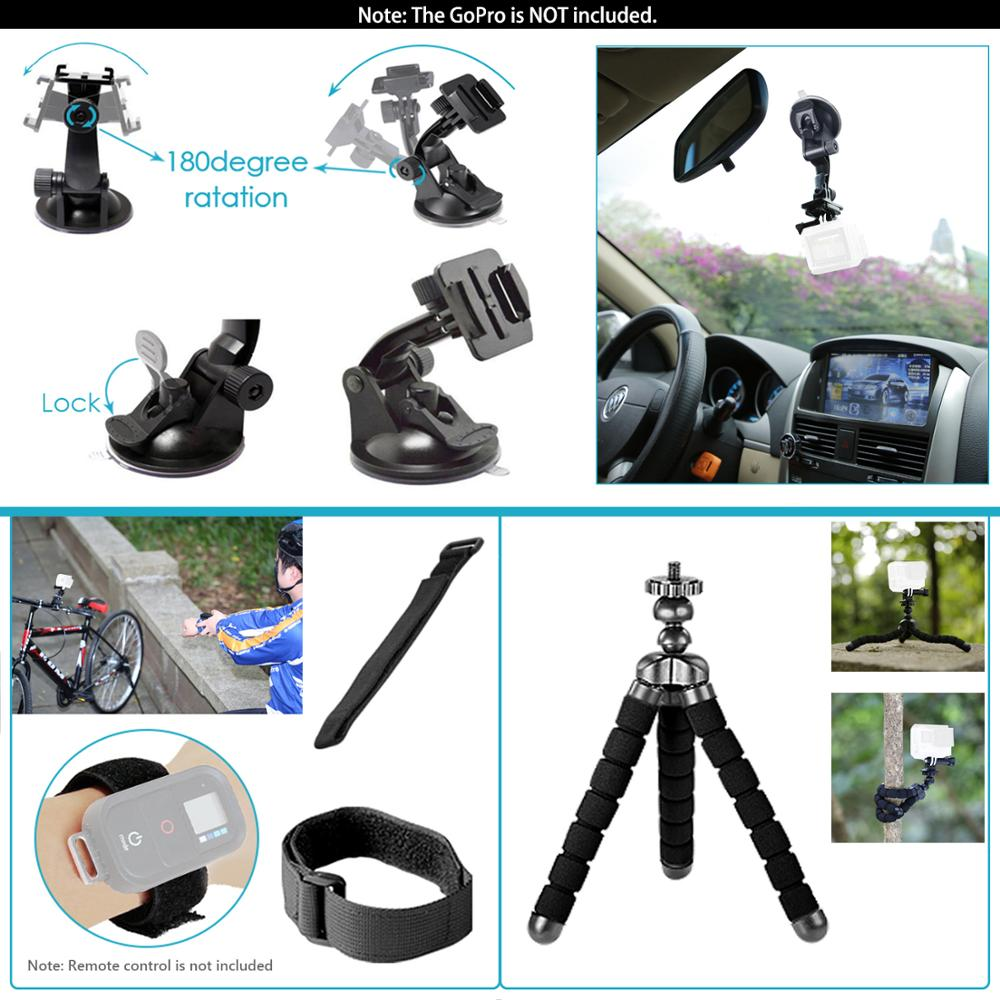 Neewer for GoPro Accessories Set for Go Pro Hero 8 7 6 5 4 Black Mount for Xiao Yi 4k Mijia Case for Sjcam Action Camera-2