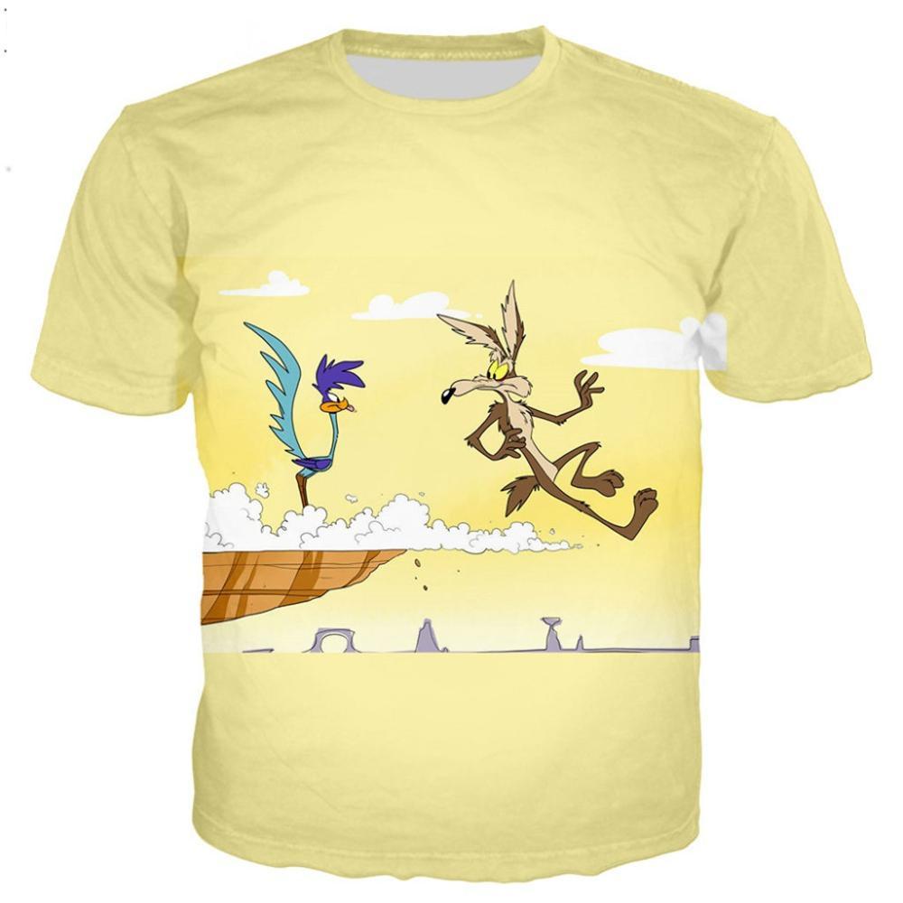 New Roadrunner & wile e coyot series t shirt men women 3D printed novelty fashion tshirt hip hop streetwear casual summer tops