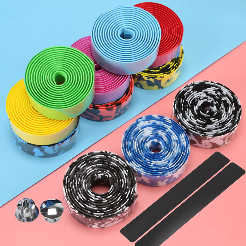 Bike Bicycle Handlebar Tape Road Cycling Handle Belt Cork Wrap With Bar Plugs Cycle Non-slip Belt Bike Accessories Wrap Tapes
