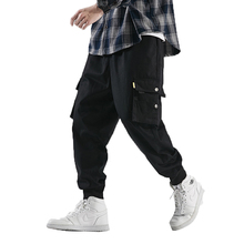 Men Streetwear Cargo Pants 2019 Mens Hip Hop Cotton Harem Joggers Pants Male Large Plus Fashion Sweatpants Casual Trousers 5XL
