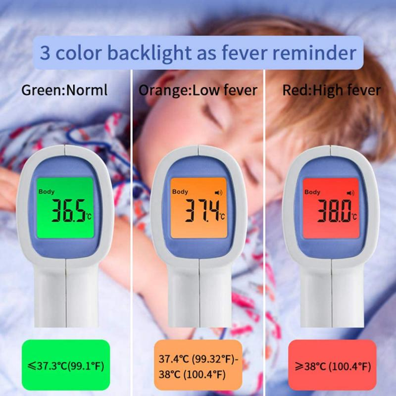 Baby Forehead Infrared Thermometer FDA Fast Accurate Measurement Digital LCD Non-contact Infrared Forehead Thermometer Infrared
