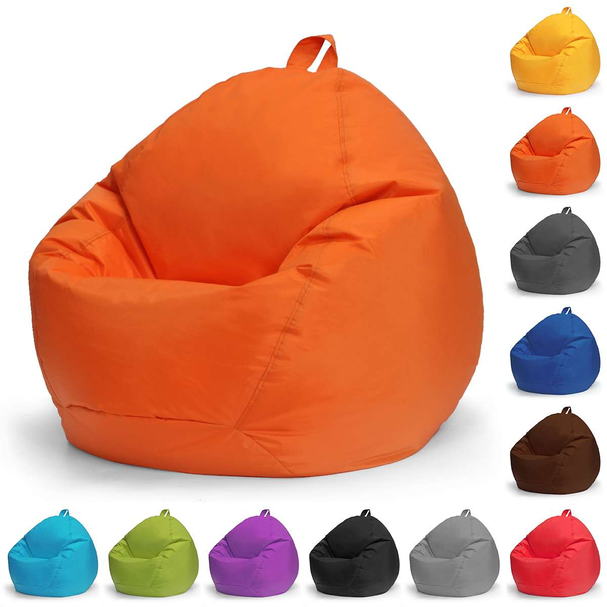 Lazy BeanBag Sofas Cover Chairs No Filler Oxford Cloth Lounger Seat Bean Bag Puff Couch Tatami Living Room Furniture 100x120cm