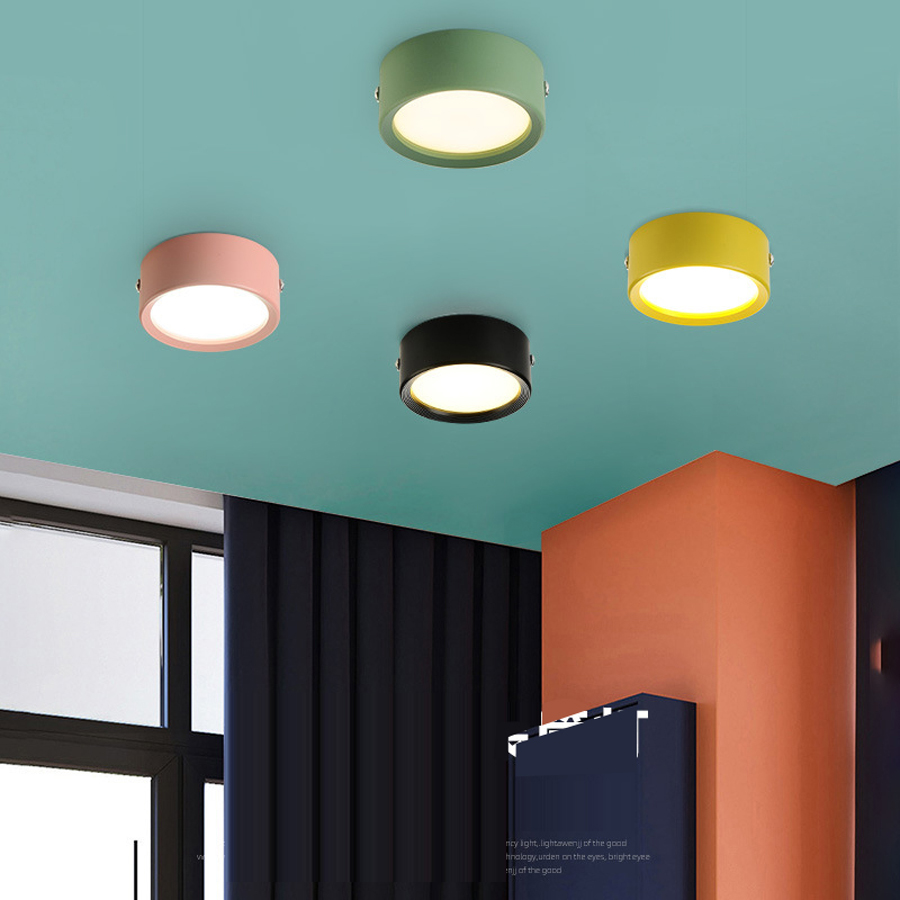 Ultra Thin Modern Led Ceiling Lighting Fixtures for Living Room Surface Mounted Aluminum LED Ceiling Lights Lampy Sufitowe