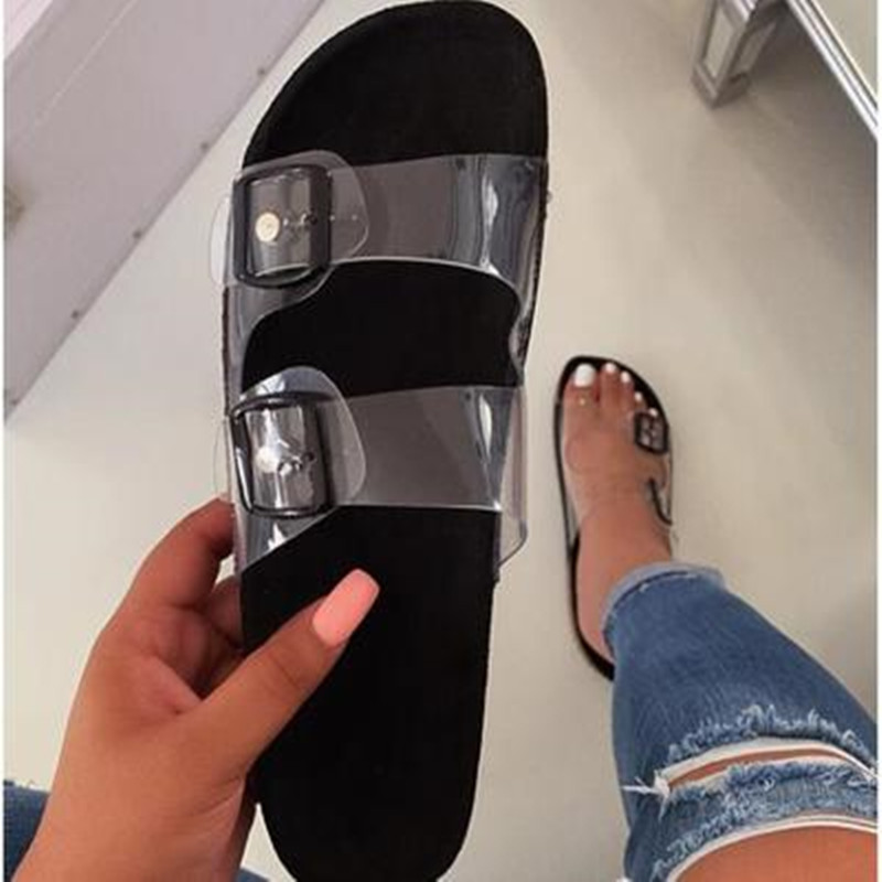 2020 Crystal Outdoor beach sandals Summer Women Slippers Bling ladies open toe Comfort slip woman shoes Candy color Cobra 3