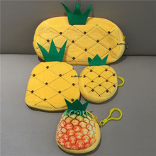4Designs/LOT , Sweet Pineapple Plush Purse , Gift Keychain Plush Purse