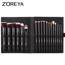 ZOREYA Makeup Brushes for face Eye shadow Foundation Eyelashes Cosmetics Soft Hair Full  Accessories with Brush Holder