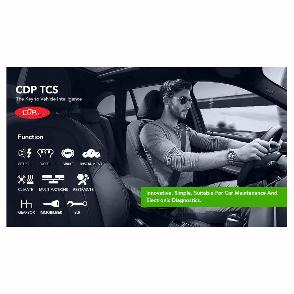 CDP TCT Xanh Đơn Ban V5.00.8 R2 Xe Ô Tô Và Xe Tải Tự Động Quét Như CDP TCT Pro Plus OBD2 Dignostic Dụng Cụ
