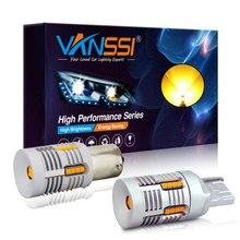VANSSI 7507 Bau15s PY21W светодиодный светильник Canbus без ошибок с сигналом поворота T20 7440 7440NA WY21W светодиодный Canbus без гипервспышки Желтый Янтарный