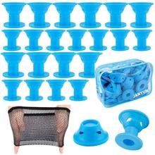 Hair-Rollers Tools-Accessories Curls Magic for Silicone Professional Blue 40-Packs