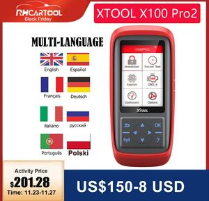 Car accessories XTOOL X100 Pro Pro2 OBD2 Auto Key Programmer/Mileage adjustment Including EEPROM Code Reader with Free Update