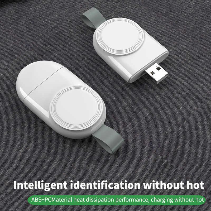 Cargador de reloj USB portátil, cargador inalámbrico magnético para Apple iWatch Series 5 4 3 2 1, adaptador inalámbrico Cable De Carga Rápida