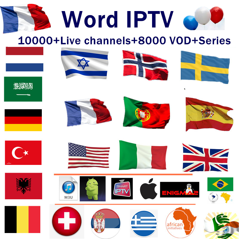 World IPTV Subscription 10000+Live HD IPTV Spain Nederlands France Sweden Israel Croatia Finland IPTV M3U Android Tv Box X96H