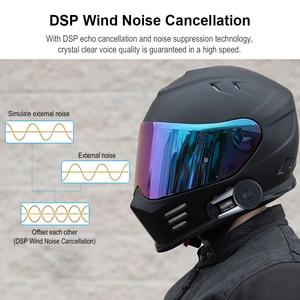 Image 5 - 2pcs Fodsports V6 בתוספת אופנוע קסדת אינטרקום אלחוטי Bluetooth אוזניות OLED תצוגת מסך intercomunicador moto FM רדיו