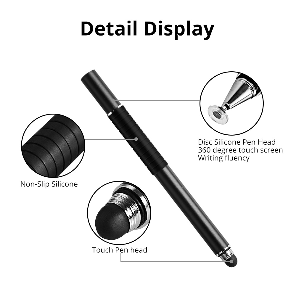 FONKEN Stylus Pen For Smartphones 2 in 1 Touch Pen for Samsung Xiaomi Tablet Screen Pen Thin Drawing Pencil Thick Capacity Pen