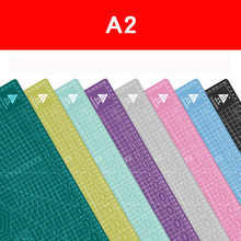 A2 60 * 45cm Cutting Board Grid Line Self-healing Cutting Board Craft Card Multi-color Double-sided Desktop Cutting Pad