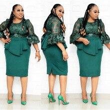 2 Piece Set Africano Abiti Stile Per Le Donne 2020 Abbigliamento Africa Elegante Abiti di Moda Africano Ankara Vestito Per La Signora