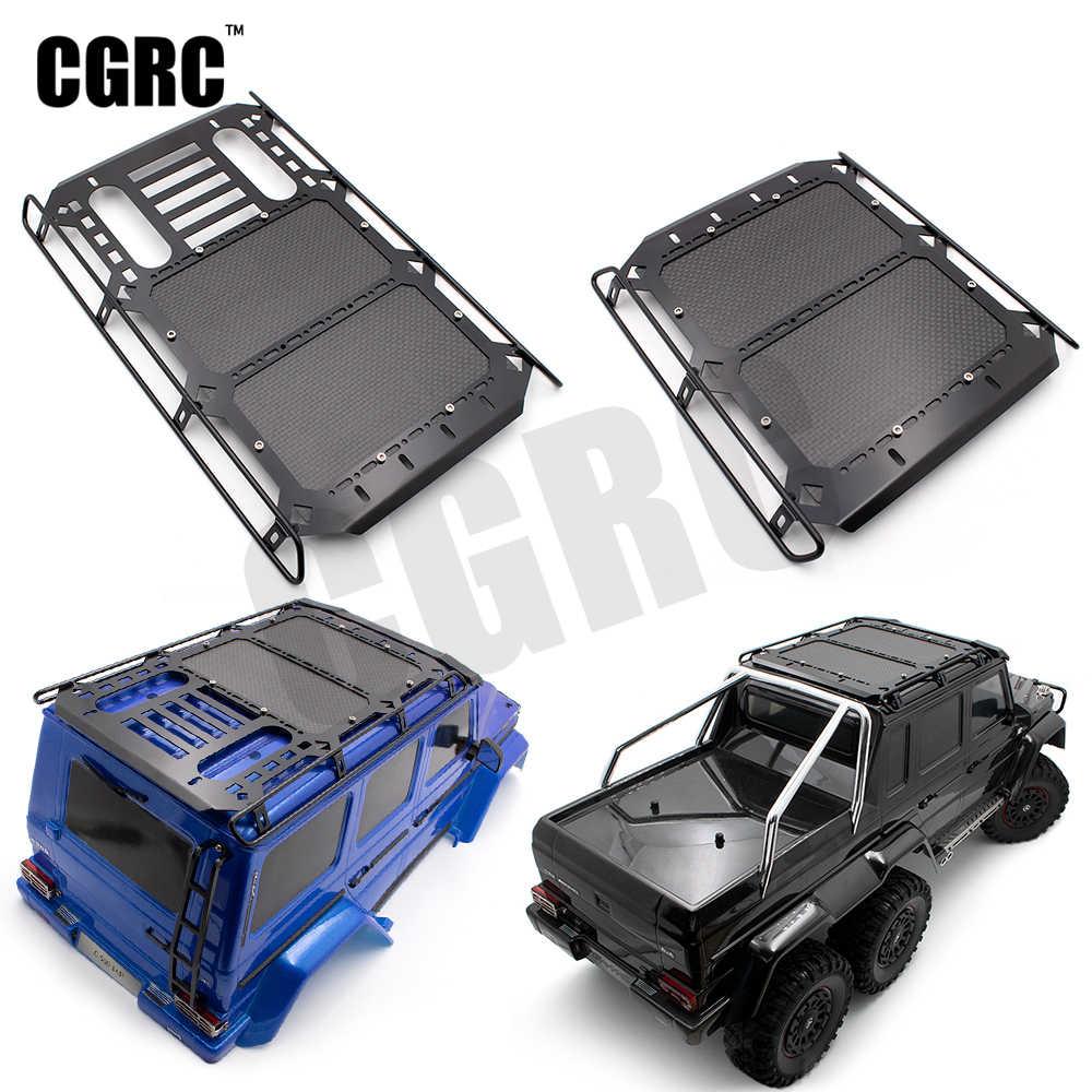 โลหะกระเป๋า Carrier หลังคาคาร์บอนไฟเบอร์สำหรับ 1/10 RC Crawler รถ Traxxas TRX6 G63 TRX4 G500 OP อุปกรณ์เสริม