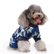Vests For Dogs Pet Cat Dog Shark Print Vest Sweater Winter Warm Clothing Dress Christmas Clothing For Dogs Dog Clothes P30(China)