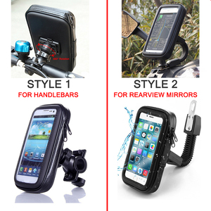 Image 5 - Motorcycle Phone Holder Support Telephone Mobile Stand for Moto Support for HUAWEI Redmi 5x Universal Bike Holder Waterproof Bag