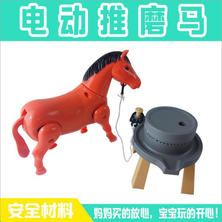New Style Wandering Peddler Hot Selling Electric Horse Pull Grinding Slalom Circles Merry-go-round Stall Hot Sales Supply Of Goo