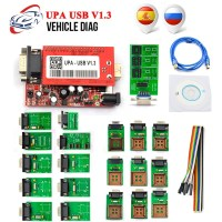 Promotion UPA USB Programmer V1.3 With Full Adapter OBD2 Car Diagnostic Tool UPA USB V1.3 ECU Programmer Turning Tool