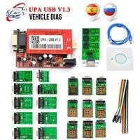 Promotion UPA USB Programmer V1.3 With Full Adapter OBD2 Car Diagnostic Tool UPA USB V1.3 ECU Programmer Turning Tool
