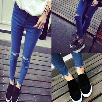 2016 Summer Thin Section Korean-style WOMEN'S Wear Capri Pants South Korea Pencil Jeans Women's Skinny Pants Slimming Leggings