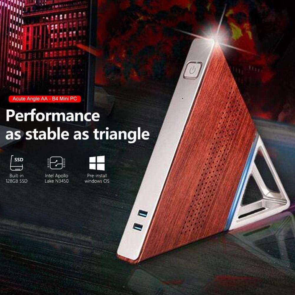 Mini PC 8GB + 64G 128GB Computer Fast Business Host Desktop Acute Angle Triangle Computer  For Intel N3450 Quad Core Windows 10