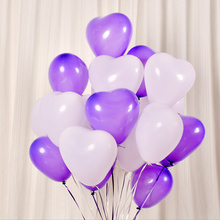 10pcs/lot 12 Thicken 2.2g Romantic Love Heart Latex Helium Balloons Wedding Decoration Valentines Day Birthday Party