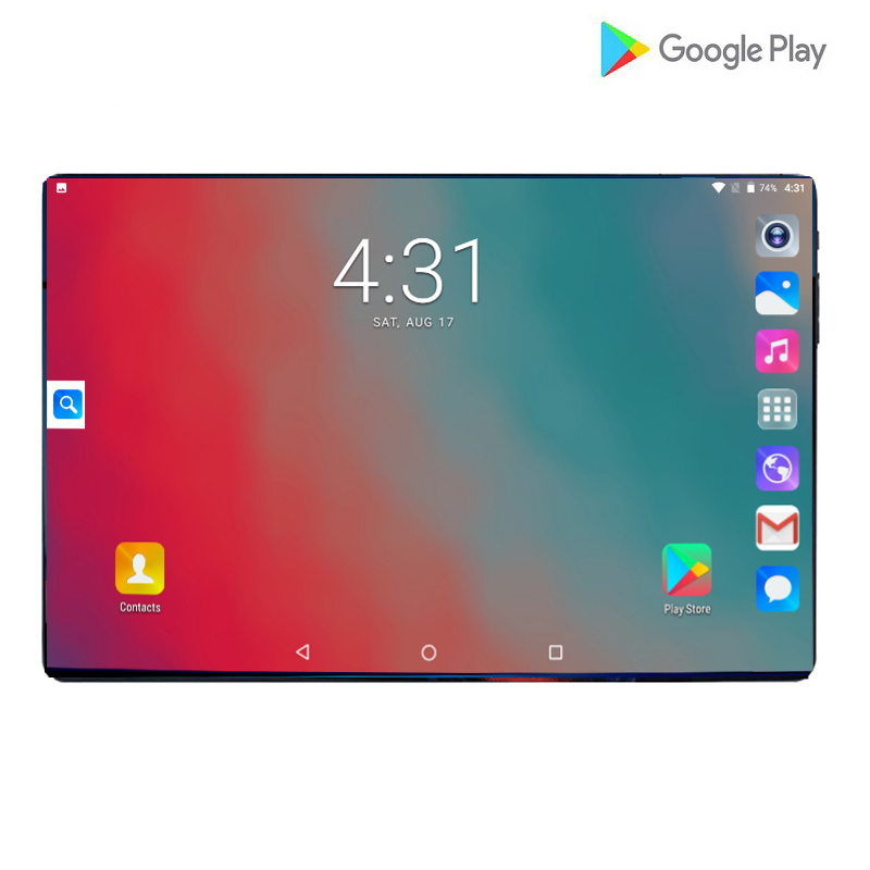 2019 Super Tempered 2.5D Glass 10.1 Inch Tablet Android 9.0 Octa Core 6+64GB 6000mAh 1280x800 IPS Large Screen Tablets 10.1