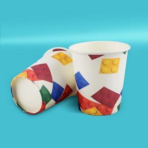 Image 3 - 8個レゴパーティー使い捨て食器プレートカップ子供の誕生日パーティーベビーシャワーの装飾用品