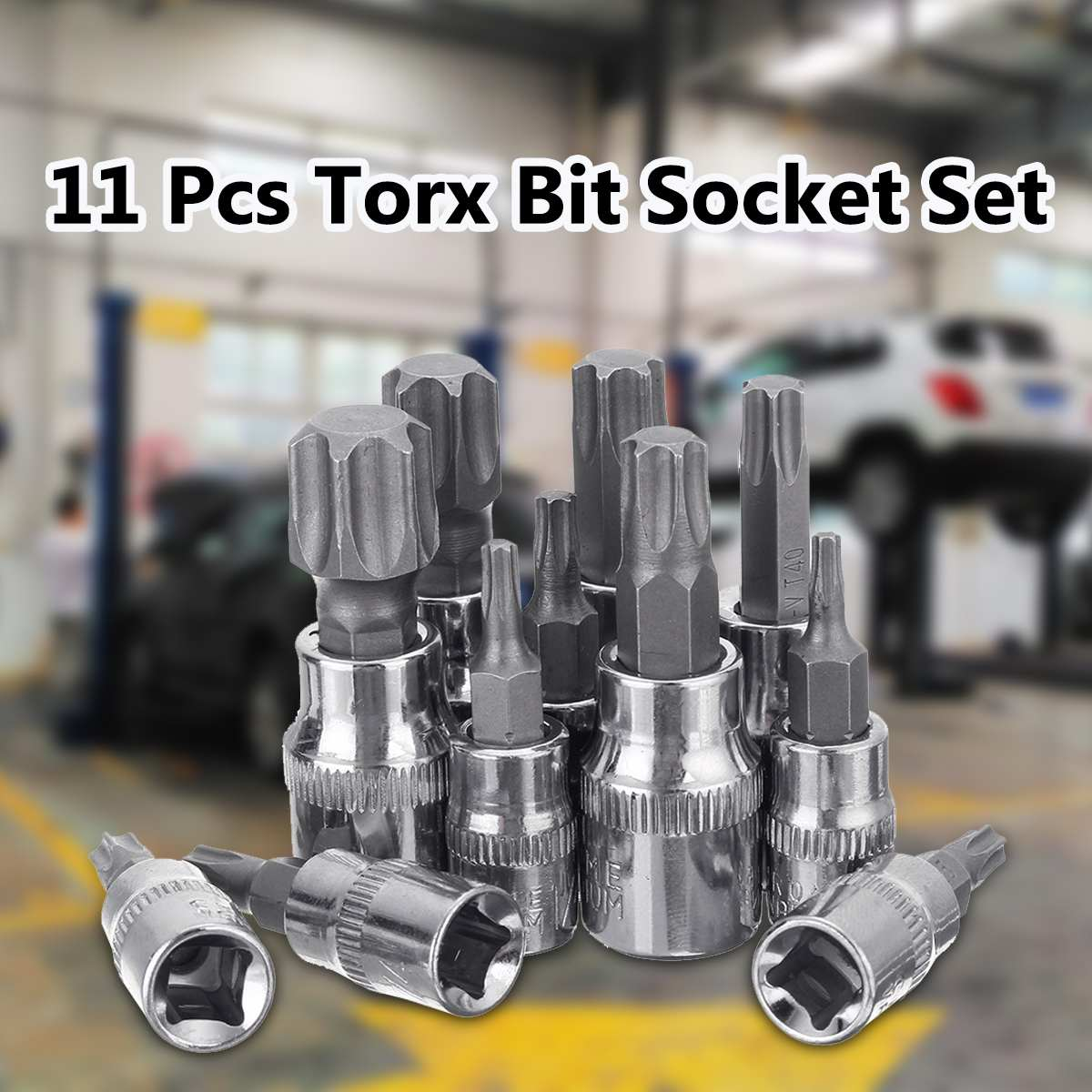 Torx Bit Socket Set T10-T60 Security Tamper Proof With Hole 1/4