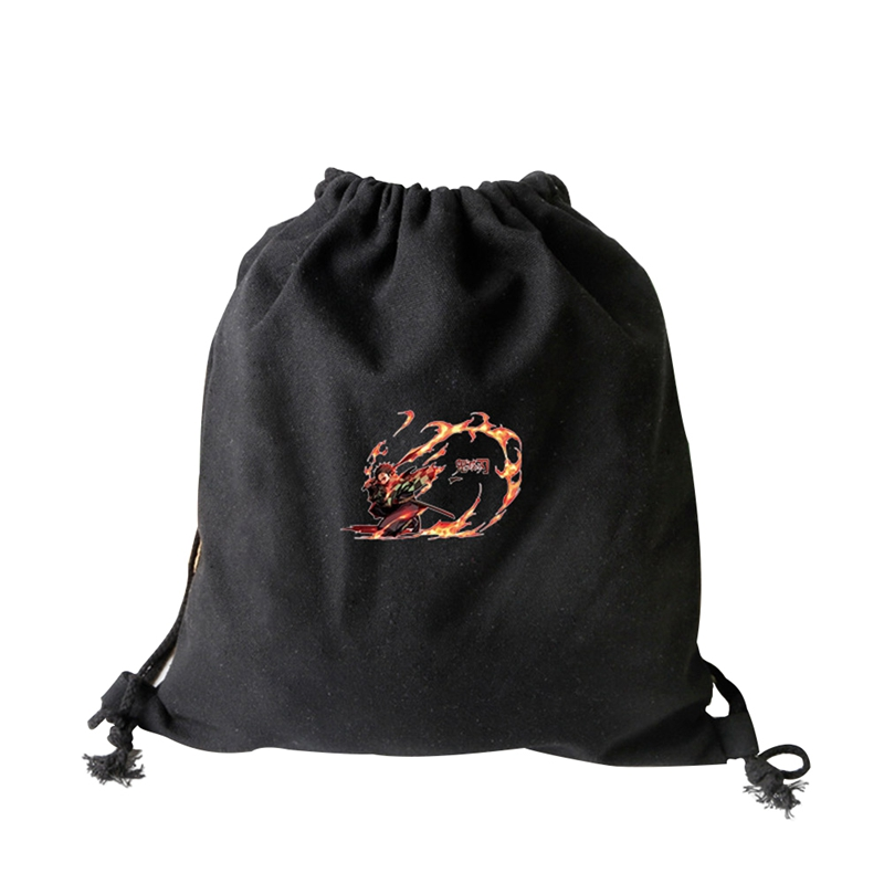 Fashion Women Backpack High Quality Animation Cartoon Pattern Band Pocket Men And Women Storage Bag