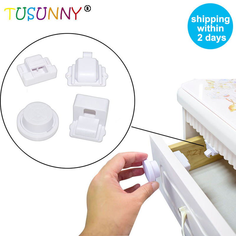 TUSUNNY 8+2/4+1PCS Baby Safety Magnetic Child Protection Lock Safety Baby Magnetic Cabinet Locks Baby Drawer Lock