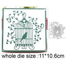 2020 штампов птица кружево лоза клетка металлические штампы